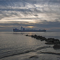 Twilight Steaming Into Charleston Harbor by Dale Powell