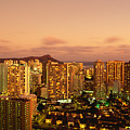 Twilight Waikiki by Carl Shaneff - Printscapes