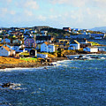 Twillingate In Newfoundland - Painterly by Les Palenik