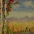 Twin Birch Trees by Crystal Miller