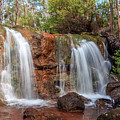 Twin Falls At Ironstone Gully by Robert Caddy