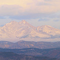 Twin Peaks Meeker And Longs Peak Panorama Color Image by James BO  Insogna