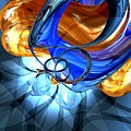 Twisted Spiral Abstract by Alexander Butler