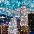 Los Angeles. Rhinestone Mosaic Beadwork Mix by Sofia Metal Queen