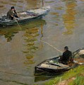 Two Anglers by Monet