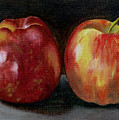 Two Apples by Sarah Lynch