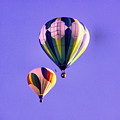 Two Balloons In The Clear Blue Sky  by Jeff Swan