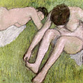 Two Bathers On The Grass by Edgar Degas