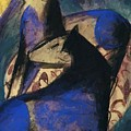 Two Blue Horses 1913 by Marc Franz