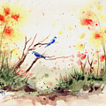 Two Bluebirds by Sam Sidders