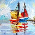 Two Boats by Lia  Marsman