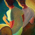 Two Boys On A Boat by Bob Dornberg