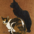 Two Cats by Theophile-Alexandre Steinlen