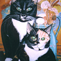 Two Cats by Winifred Ann Weishampel