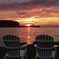 Two Chair Sunset by David T Wilkinson