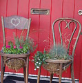 Two Chairs With Plants by Frank Stallone