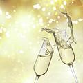 Toast Champagne Glasses by Anastasy Yarmolovich