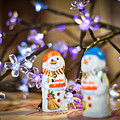 Two Chocolate Snowmen 2 by Alex Art and Photo