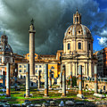Two Churches And Columns by Darin Williams