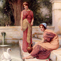 Two Classical Maidens And A Swan by MotionAge Designs
