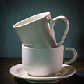 Two Coffee Cups On Saucer by Donald  Erickson