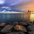 Two-colored Sky During The Sunrise by Dawid Swierczek