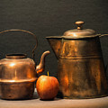 Two Copper Pots And An Apple by Frank Wilson