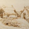 Two Cottages At Saintes Maries De La Mer by Vincent van Gogh