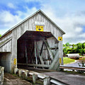 Two Covered Bridges Of St. Martins by Carolyn Derstine