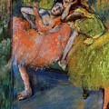 Two Dancers In The Foyer by Degas