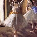 Two Dancers In The Studio Dance School by Degas