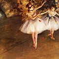 Two Dancers On Stage by Degas