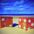 Two Dice On A Beach by Findlay Rankin