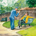 Two Englishmen In Conversation  by Vicki  Housel