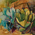 Two Fat Agaves 300 Lb by Renee Chastant