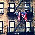 Two Flags In Washington Heights by Sarah Loft