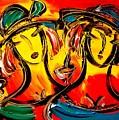 Two Girls by Mark Kazav