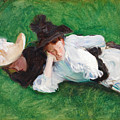 Two Girls On A Lawn by John Singer Sargent
