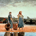 Two Girls On The Beach by Winslow Homer
