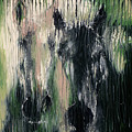 Two Horses In Greens by Scott Lindner