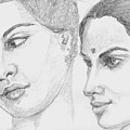 Two Indian Women by Asha Sudhaker Shenoy