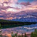 Two Jack Lake Sunset by Tracy Munson
