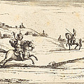 Two Knights by Jacques Callot