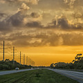 Two Lane Sunset by Louise Hill