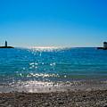 Two Lighthouse And The Wonderful Beach by Tatyana Gundar