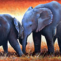 Two Little Elephants by Paul Dene Marlor