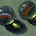 Two Marbles In Pastel by Joyce Geleynse