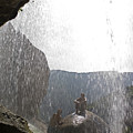 Two Men Exploring Tar Creek Waterfalls by Rich Reid