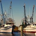 Two Old Shrimpboats by Susanne Van Hulst