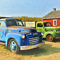 Two Old Trucks  by Ola Allen